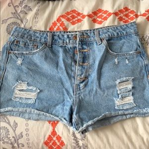 Festival style jean shorts